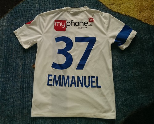 SV Grödig match worn shirt 2014/15 Sunday Emmanuel
