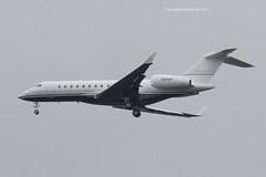 N360HP - 2009 build Bombardier BD700 Global Express XRS, on approach to Runway 23R at Manchester (egcc) Tags: man manchester james global bombardier globalexpress ringway bizjet egcc xrs bd700 9344 n360hp vhvla