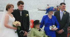 The bridal couple with the grooms parents and granny (Donald Morrison) Tags: wedding bride kilt weddingdress isleoflewis crossbost barvas adabrock crossskigerstaroad