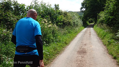 DSC00497 Wenlock Olympian Walk 2015-07-18 - Andy en route for Abdon Burf (John PP) Tags: wow shropshire walk miles 50 challenge wenlock olympian marches 2015 muchwenlock ldwa johnpp 180715