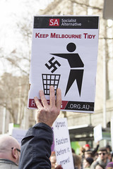 keep Melbourne tidy (louisa_catlover) Tags: winter demo rally protest july australia melbourne victoria demonstration racism 2015 counterrally noroomforracism reclaimaustralia
