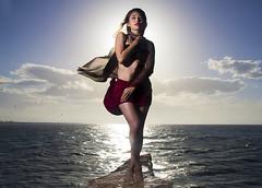 Venus Maya (MGBonjovani) Tags: ocean light sunset red sea sky people sun art luz fashion clouds canon mexico mar model arte moda playa modelo personas retratos oceano exoticos