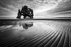 Hvitserkur, Iceland (modesrodriguez) Tags: longexposure white seascape black beach lava iceland landscale hvitserkur