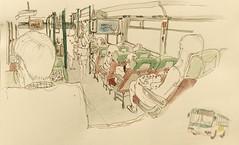 Bus daily commute (velt.mathieu) Tags: bus sketch korea croquis 한국