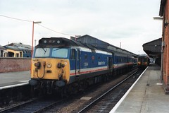 "50044 ""Exeter"" (Sparegang) Tags: 50044 class50 englishelectrictype4 networksoutheast salisbury nse britishrail southernregion 1990"
