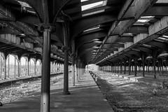 The Past (Nikon D500 Shooter) Tags: libertystatepark newjersey trainstation past blackwhite