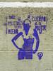 Stencil. Movimiento feminista. Arte Urbano 2014/03 (Madrid) (Juan Alcor) Tags: madrid arteurbano stencil simbolo feminista religion miedo cuerpo mujer