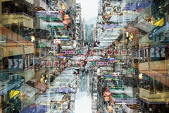 urban deconstruction (MdKiStLeR) Tags: color street urban blur layers doubleexposure art fineart mongkok hongkong asia urbandeconstruction mdkistler 2016 copyrightmichaelkistler