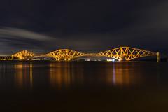 Forth Bridge (dalejckelly) Tags: canon 7dmarkii longexposure scotland visitscotland scottish edinburgh southqueensferry northqueensferry queensferry bridges bridge night winter forth forthbridge forthrailbridge forthroadbridge landscape architecture outdoor sea