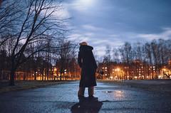 Dreaming with the stars... (Dmitrijs Bondarenko) Tags: riga latvia latvija moon night stars depthoffield holidays candid street streetphoto photo photographer sky winter xmas blue orange canon eos 40d 70200 f4 is usm nikon d5100 kit 1855 light art clouds vsco