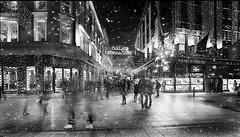 A very Irish Christmas (janetmeehan) Tags: snow christmas travel city streetphotography streetscene street monochrome mono blackandwhite ireland dublin