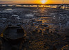Stranded at sunset (ORIONSM) Tags: boat sunset stranded lowtide water sea coast faro olympus omdem10markii