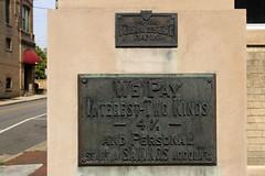 We Pay Interest - Two Kinds (jschumacher) Tags: virginia petersburg petersburgvirginia bank sign