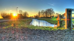 Ransdorp Sunset (Skylark92) Tags: nederland netherlands holland noordholland ransdorp waterland farm boerderij bevroren sloot frozen ditch winter landschap landscape sunset zonsondergang hdr