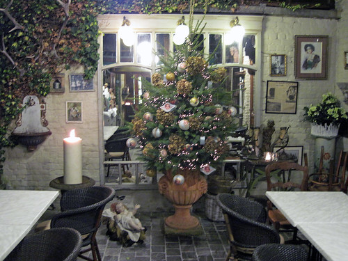 Christmas tree and crib in Lede, Flanders