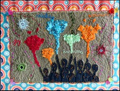 A new page for my textile book: come with me in India for the Holi!! (Essential Resinescence) Tags: holi india embroidery broderie