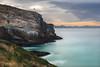 Lighthouse, Dunedin (Victor_Ng) Tags: ligthouse ocean cliff shore longexposure sea blue sunset goldenhour south peninsular otago newzealand