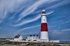 lighthouse portland bill (*LINNY *) Tags: sea lighthouse cloud clouds building red white