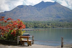 Beautiful Lake Batur (scinta1) Tags: bali baturbaguscottage beautiful kintamani kedisan kampung keluarga family lakebatur danaubatur desa mountbatur mountain gunungbatur giri amazing awesome caldera clouds excellent indonesia interesting lake view water waterscape red tree flower green blue calm peaceful seat