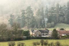 Chimney Smoke - Wass (aveyardphotography) Tags: wass village north yorkshire chimney smoke hills trees woodland woods nature landscape green winter washing line sheets wow