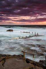 Surf's Up (Rodney Campbell) Tags: maroubra rock pool sunrise gnd09 cpl water mahon clouds newsouthwales australia au