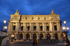 Palais Garnier : Outside view of Opera House, Paris, France (nilkpic1) Tags: eveninginparis palaisgarnier operahouse paris france nileshkhadsephotography nkphotography nikond7000 europe architecture cityscape urbanphotography streetphotography nightphotography
