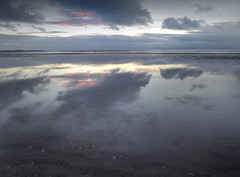 Irvine Beach Gloaming (g crawford) Tags: crawford ayrshire northayrshire clyde riverclyde firthofclyde irvine irvinebeach reflection reflect gloaming dusk