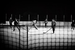 The Game (DHaug) Tags: hockey canada outdoorrink skating game nets greely blackandwhite noiretblanc sport pickup fujifilm xt2 xf50140mmf28rlmoiswr xf50140 monochrome shinny