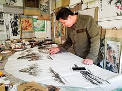 Painting (GavinZ) Tags: china painting painter street fan yangshuo art artist asia