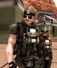 Welcome to Mars (Eridanus Industries) Tags: eridanus secondlife sl slmc military scifi science fiction mars combat an alliance navy drill instructor uniform marine fleet guns