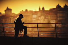 Lonely Photographer (Matthias Matula) Tags: porto oporto pontedomluis douro river bridge portugal city europe sky sun summer sunset light street candid sony 135mm photographer silhouette shadow orange mosteiro gaia vintage