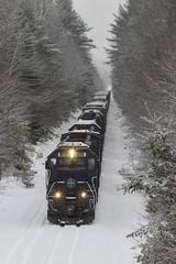 Fresh snow (Thomas Coulombe) Tags: panamrailways panam powa emdsd402m sd402m freighttrain train snow belgrade maine