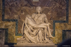 The Pieta by Michelangelo located in St. Peter's Basilica in the Vatican City (Artotem) Tags: travel italy vatican europe michelangelo pieta traveler piet 2015