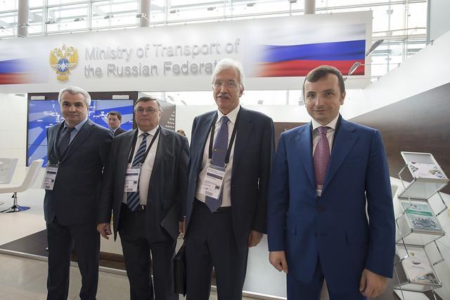Aslanbek Akhokhov, Alexey Vasilikov, Vadim Donchenko and Terenty Mershcheryakov posing for a picture