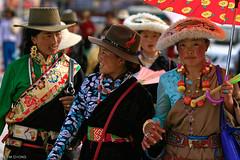 Tibetan Women (oeyvind) Tags: china tibet amdo kham     yushu qinghai chn   jyekundo gyegu