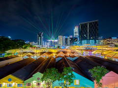 Part Of Me (t3cnica) Tags: city longexposure urban architecture landscapes intense singapore downtown glow central cityscapes financialdistrict urbanexploration laser lightshow dri nightscapes mbs clarkequay marinabay dynamicrangeincrease exposureblending digitalblending singaporeflyer marinabaysands