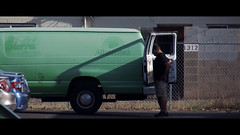 What's In The Van? (Marc Rodriguez 24) Tags: street arizona usa man green out person us zoom candid low az cine line iso van cinematic 80 far tempe straat longshot f58 129mm