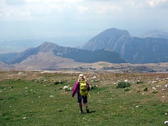 """Descending grassy slopes with Serra di Celano far below • <a style=""""font-size:0.8em;"""" href=""""http://www.flickr.com/photos/41849531@N04/19756723871/"""" target=""""_blank"""">View on Flickr</a>"""