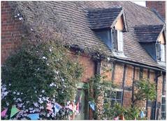 The Old Cottage (slingpool) Tags: uk england brick garden timber cottage clematis worcestershire cropthorne