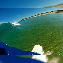 Would of been a deep little pipe if that booger didn't collapse it.!! (core_personal_training) Tags: beach water square surf wave australia surfing squareformat surfboard newsouthwales soldiersbeach gopro iphoneography instagramapp uploaded:by=instagram