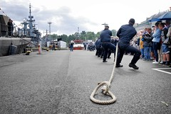 Tug of war (Sameli) Tags: people suomi finland helsinki war navy competition rope tug finnish pulling