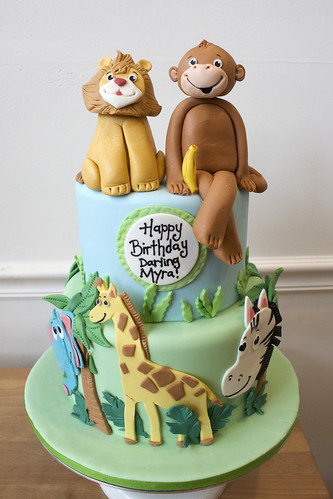 Safari Animal Birthday Cake