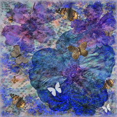 Into the Blue (virtually_supine) Tags: blue collage photomanipulation creative butterflies montage layers fractals driedflowers digitalartwork dogroses paintnet carddesign paperlace photoshopelements9 kreativepeopletreatthis91 sourceimagetheflowerbedbyabstractartangel77