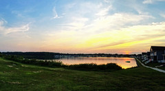 Pano Sunset (DASEye) Tags: sunset sky panorama sun lake clouds skies cloudy dusk iphone davidadamson daseye
