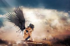 Injured Angel (o.gros) Tags: angel photoshop nude photomontage fantasy woman