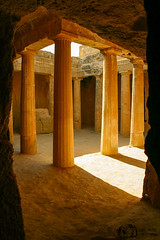 Underground Heritage - Tombs of the Kings - Paphos - Cyprus (D. Pacheu) Tags: pacheu temple tomb cyprus column light sun underground rays paphos king