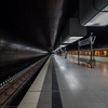 Black (katrin glaesmann) Tags: hamburg tube metro ubahn station ubahnhof hvv u4 hafencityuniversität colour train