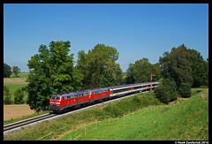 DB 218 426, Stetten (Schwab) 08-08-2016 (Henk Zwoferink) Tags: kammlach bayern duitsland stettenschwab br218 128 218 426 418 henk zwoferink sbb db algau ec eurocity ic baureihe stetten schwab 08082016