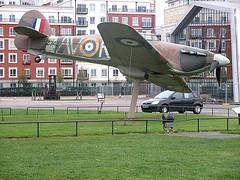 Hawker Hurricane Gate Guardian at RAF Museum, Hendon 01.11.16 (Trevor Bruford) Tags: raf museum hendon london warbird aircraft plane military aviation hawker hurricane gate guardian wwii