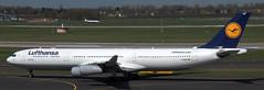 Airbus A-340-313 D-AIGS (707-348C) Tags: dusseldorf eddl dus airbus airliner jetliner airbusa340 a343 dlh lufthansa passenger daigs